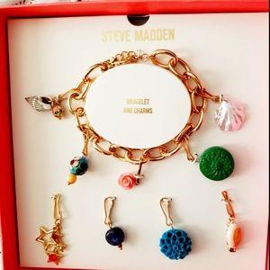 Steve Madden Charm Bracelet Set